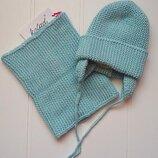 Вязаний комплект шапка хомут