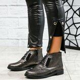 Код 3950 Демисезонные ботинки Натуральная кожа/сатин Внутри байка. Сбоку рабочая молния. Каблук 4.5