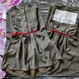 Очень красивое вельветовое платье, 3 цвета