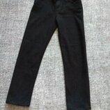 Крутые черные укороченные,стрейчевые джинсы мом бойфренд размер 14/12