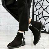 Код 6164 Элитная коллекция Демисезонные ботинки Натуральная итальянская замша Внутри байка Высота п
