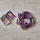 Красивый обьемный шарф шарфик в клетку