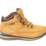 Зимние ботинки мужские Restime песочные, нубук,