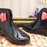 Резиновые ботинки с бантом р-р 36-41
