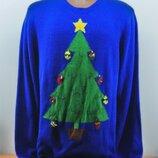 Новогодний свитер с гирляндой. Мигающий