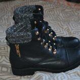 демисезонные женские ботинки New Look 23.5 см 37 размер Англия
