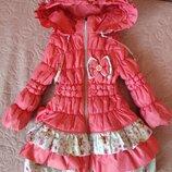 Осенняя куртка на девочку 98см