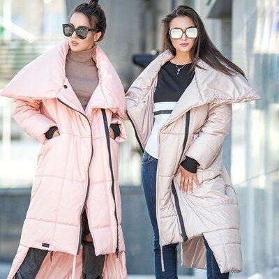 Продано: Модное зимнее пальто с большим воротником Клайд