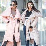 Модное зимнее пальто с большим воротником Клайд