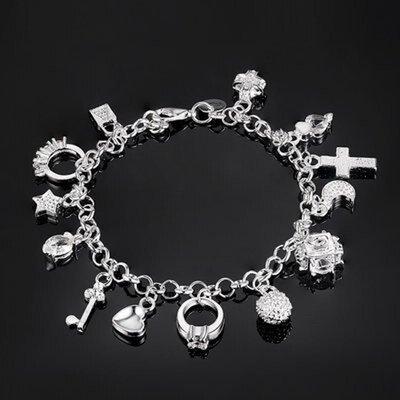 Серебро 925 проба. шикарный серебряный браслет на руку с циркониями