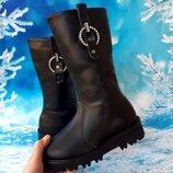 Высокие зимние сапоги для девочки, код 794