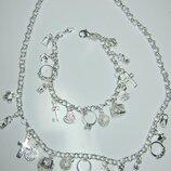 Ожерелье с покрытием серебра 925 пробы