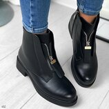 Женские зимние ботинки молния