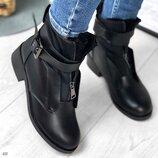 Женские зимние ботинки ремешки