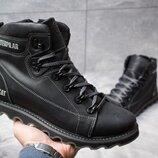 Ботинки кожаные зимние CAT Rider Nubuck Black