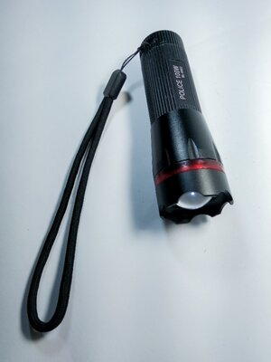 Фонарик LED компактный с зумом