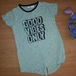 Стильная футболка пайетки девочке