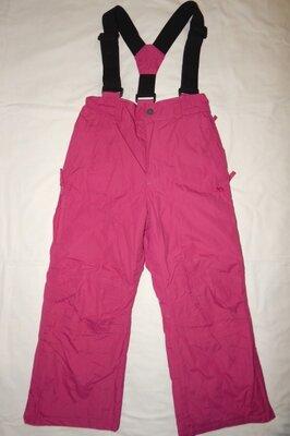 Малиновые теплые зимние горно-лыжные штаны Trespass TP50 на девочку 5-6 лет. Рост 110-116 см.