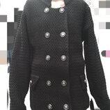 Вязаный пиджак на молнии 32-44 размер