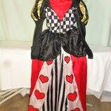 Карнавальное платье Шахматной королевы на 11-13лет