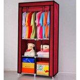 тканевый шкаф для одежды и обуви 90 45 170-Новинка