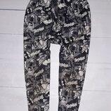 Теплые флисовые штаны с Бетменом на 6-7 лет