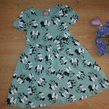 Стильное хлопковое платье с Минни 56лет