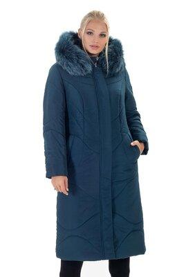 Зимняя женская теплая удлиненная куртка
