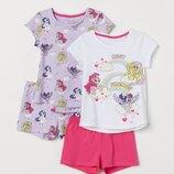 Пижамы H&M на девочек, р.98/104, 110/116