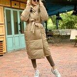 Женское зимнее пальто на силиконе