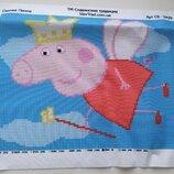 Набор для вышивания бисером Свинка Пеппа. Вышивка, бисер, схема