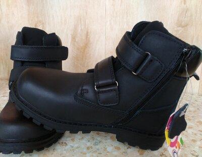 Кожаные Сапоги ботинки зимние на мальчика 28-35 размеры TTTOTA JONG GOLF