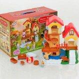 Кукольный домик 1508 Sweet Family 26 деталей, мебель, 2 фигурки