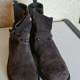 Spada демисезонные кожаные замшевые ботинки полусапожки