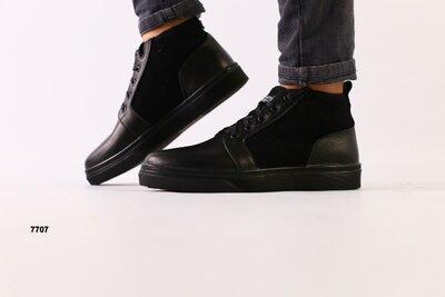 Мужские зимние ботинки из кожи и замши 40-45р