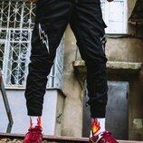 Теплые брюки карго мужские Пушка Огонь Angry Flash черные