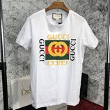 Мужская футболка Gucci Logo Cotton T-shirt White белая