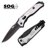 Складной нож от компании SOG. Модель Flashback Drop Point Black TiNi SAT002-CP . Оригинал