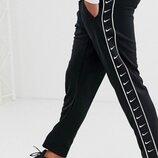 Зимние штаны Nike черные с лампасом AAA