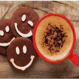 Картина по номерам. Brushme Кофе с печеньем GX28408. Брашми.