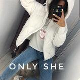 Женская стеганая короткая куртка с капюшоном Деми Р-Ры 42 44 46 Синтепон 200 Цвет как на фот