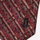 Галстук мужской YSL, натуральный шёлк, винтаж