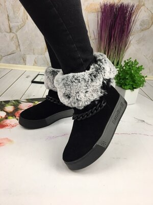 Скидка Женские зимние ботинки, замша