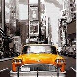 Картина по номерам. Brushme Нью-Йоркское такси GX8241. Брашми.