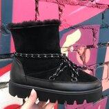 Р.36-41 Женские натуральные кожаные зимние ботинки сапоги сапожки замша уги угги UGG