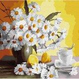 Картина по номерам. Brushme Ромашки и лимоны GX29442. Брашми.