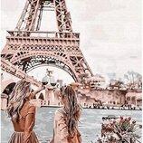 Картина по номерам. Brushme с видом на Эйфелеву башню GX30103. Брашми.