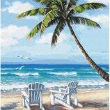 Картина по номерам. Brushme Шезлонги на побережье GX28242. Брашми.