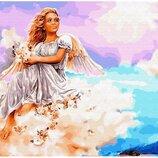 Картина по номерам. Brushme Ангел на облаке GX29953. Брашми.