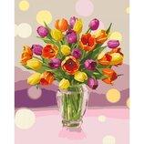 Картина по номерам. Солнечные тюльпаны 40 50см KHO3064